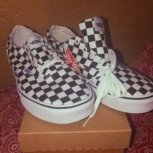Black & White Checker Vans Women's Size 9